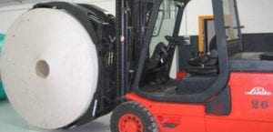 Rotating Clamp Accessory for Counterbalance Forklifts